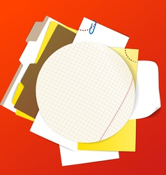 Circular background of an office stuff vector image
