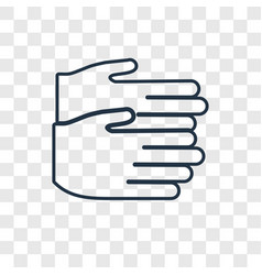 clapping concept linear icon isolated on vector image