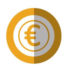 Coin money euro icon vector
