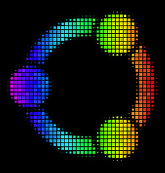 Colored dot cooperation icon vector