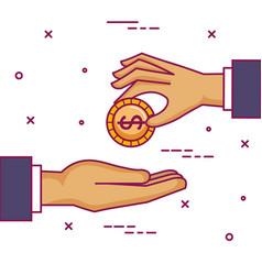 crowdfunding sponsor collaboration donation vector image