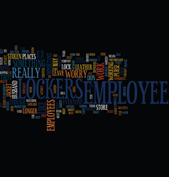 Employee lockers text background word cloud vector