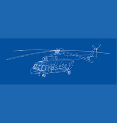 Blueprint paper airplane vector images 54 engineering drawing of helicopter vector malvernweather Choice Image