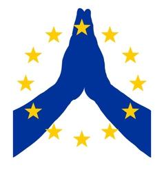 European pray vector image