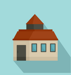 farm house icon flat style vector image
