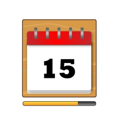 Fifteenth day in the calendar vector image