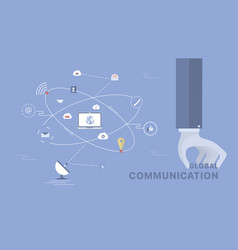 Global communication background vector
