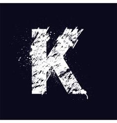 Grunge letter k vector