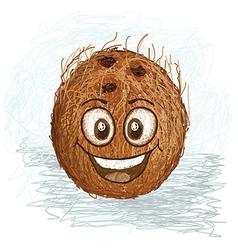 happy coconut vector image