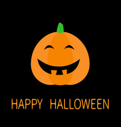 Happy halloween cute pumpkin funny creepy vector