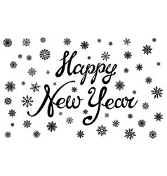 happy new year holiday with lettering composition vector image