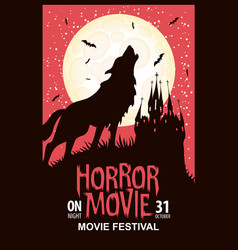 horror movie festival scary cinema poster vector image
