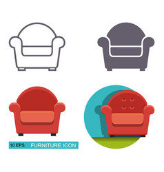 icons armchair vector image