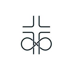 Immortal god conceptual logo design combined vector