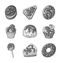isolated object of sweet and caramel symbol set vector image