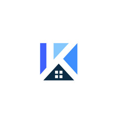 K letter house home logo icon vector