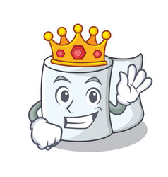 King tissue character cartoon style vector