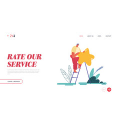 landing page web design banner with man leaving vector image