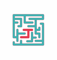 Maze game board game vector