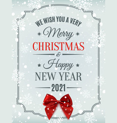 merry christmas and happy new year 2021 design vector image