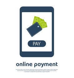 mobile online payment concept i vector image