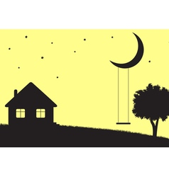 Moon swings vector