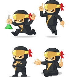 Ninja Customizable Mascot 12 vector image