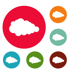 Overcast icons circle set vector