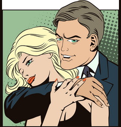People in retro style pop art Couple in love vector image