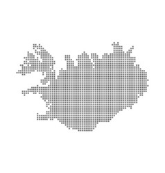 pixel map of iceland dotted map of iceland vector image