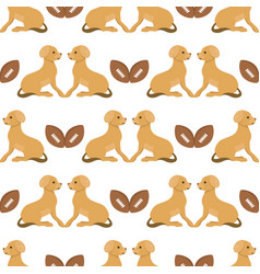 Playing dog character funny purebred puppy comic vector