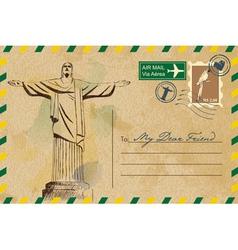 Postcard from rio de janeiro vector