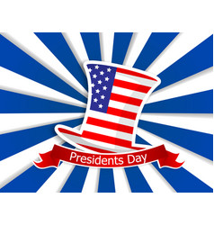 president day usa flag on hat vector image