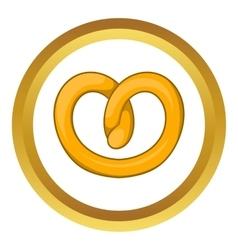 Pretzels icon vector