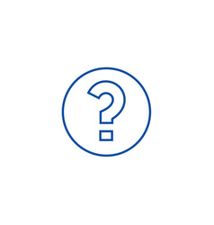 question line icon concept question flat vector image