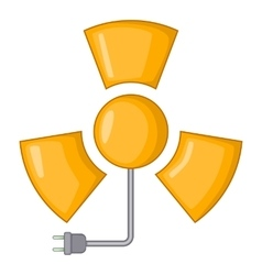 Radiation icon cartoon style vector