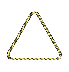 rope frame triangle vector image
