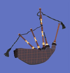 scottish bagpipe flat vector image