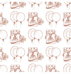 Seamless pattern with balloons and a tear off vector