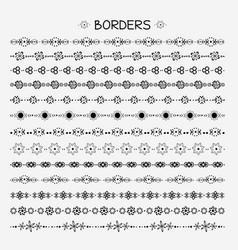 Set hand drawn line borders vector