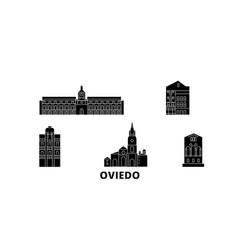 spain oviedo flat travel skyline set spain vector image