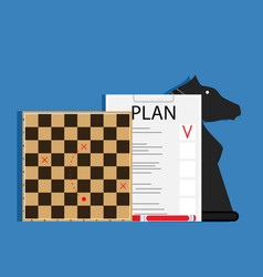 Strategic business plan vector