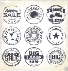 Summer sale grunge rubber stamp vector image