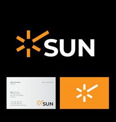 Sun rays icon tourism travel yellow vector