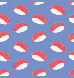sushi decorative seamless pattern vector image