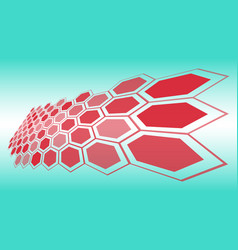 technology background hexagon shapes abstraction vector image
