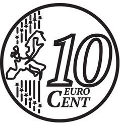 ten euro cent coin vector image
