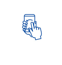Touch screen gesture line icon concept touch vector