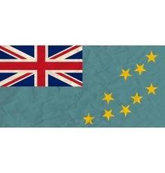 Tuvalu paper flag vector image