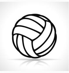 Volleyball ball black icon vector